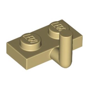 LEGO 4655257 PLATE W. HOOK 1X2 - BEIGE lego-6261357-plate-w-hook-1x2-beige ici :