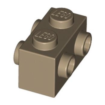 LEGO 6135609 BRICK 1X2 W. FOUR KNOBS - Sand Yellow lego-6135609-brique-1x2-w-4knobs-sand-yellow ici :