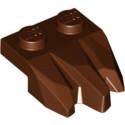 LEGO 6251403 PLATE 2X3, ROCK - REDDISH BROWN