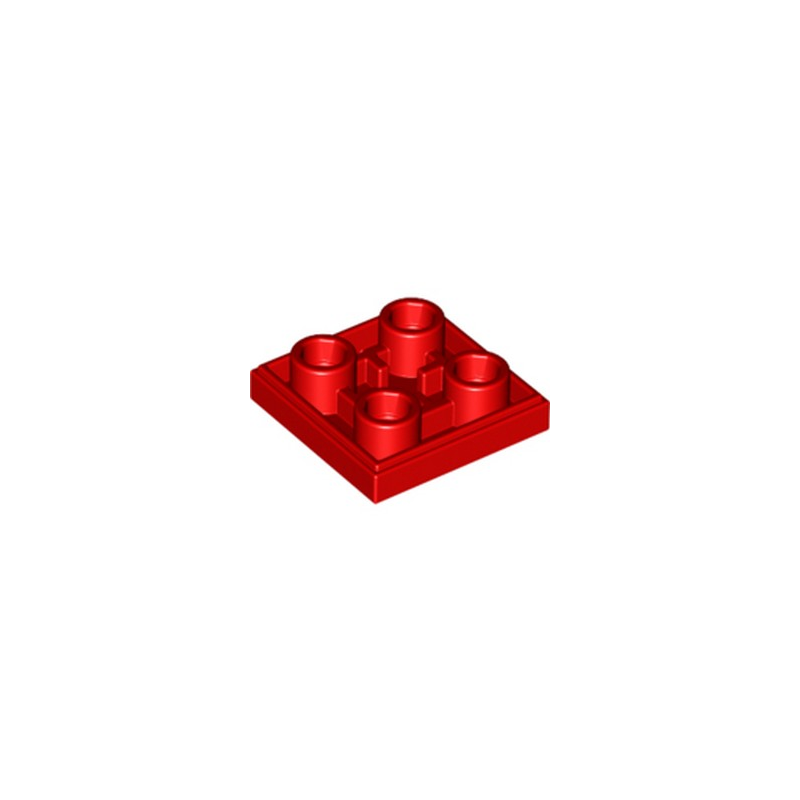 LEGO 6013868 PLATE LISSE 2x2 INVERSE - ROUGE