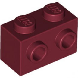 LEGO 6252545 BRIQUE 1X2 W. 2 KNOBS - NEW DARK RED