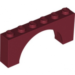 LEGO 6267406 ARCHE 1X6X2 - NEW DARK RED
