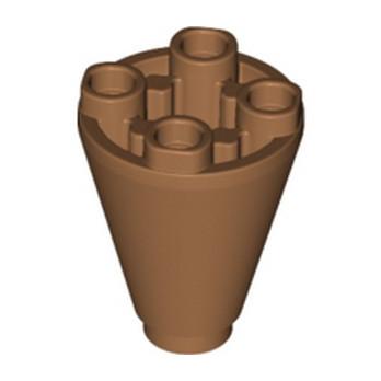 LEGO 6259706 CONE 2X2X2 INV. - MEDIUM NOUGAT