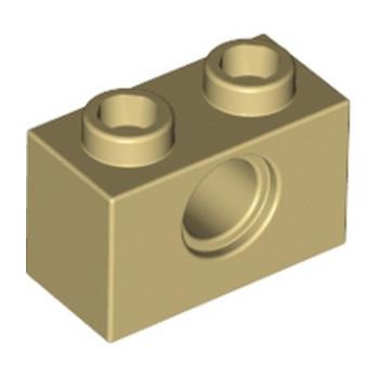 LEGO 370005  TECHNIC BRIQUE 1X2, Ø4.9 - BEIGE lego-4205107-technic-brique-1x2-o49-beige ici :