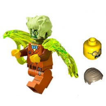 Mini Figurine LEGO® Hidden Side - Mr. Clarke Hanté + Tête et cheveux
