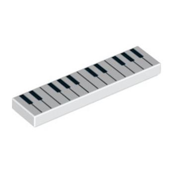 LEGO 6284099 PIANO 1X4 - BLANC