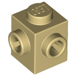 LEGO 6175968 BRIQUE 1X1, W/ 2 KNOBS - BEIGE