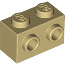 LEGO 6024495 BRIQUE 1X2 W. 2 KNOBS - BEIGE