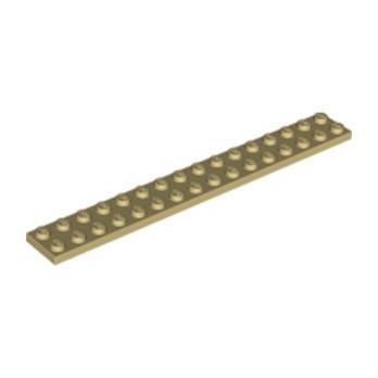 LEGO 4124486 PLATE 2X16 - BEIGE lego-6030980-plate-2x16-beige ici :