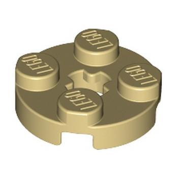LEGO 403205 PLATE 2X2 ROND - BEIGE lego-4140562-plate-2x2-rond-beige ici :