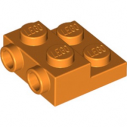 LEGO 6289113 PLATE 2X2X2/3 W. 2. HOR. KNOB - ORANGE