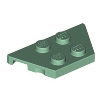 LEGO 6187591 PLATE 2X4X18° - SAND GREEN