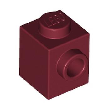 LEGO 6212007 BRIQUE 1X1 W. 1 KNOB - NEW DARK RED