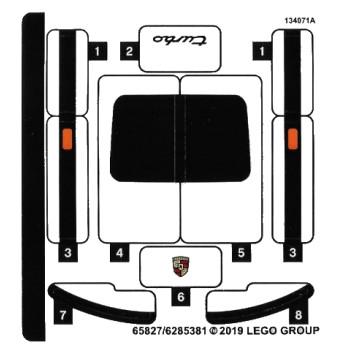 Stickers / Autocollant Lego Speed Champions 75895