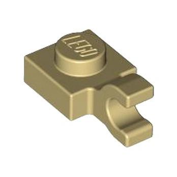 LEGO 6347292 PLATE 1X1 W/HOLDER VERTICAL - TAN