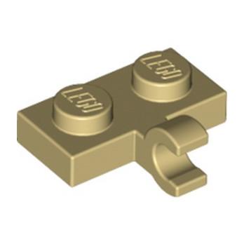 LEGO 6177314 PLATE 1X2 W. 1 HORIZONTAL SNAP - BEIGE