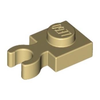 LEGO 6352222 PLATE 1X1 W. HOLDER - TAN