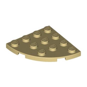LEGO 4191095 PLATE 4X4, 1/4 CIRCLE - BEIGE