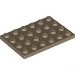 LEGO 6167894 PLATE 4X6 - SAND YELLOW