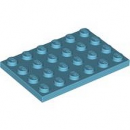 LEGO 4619515 PLATE 4X6 - MEDIUM AZUR lego-4619515-plate-4x6-medium-azur ici :