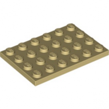 LEGO 4114001  PLATE 4X6 - BEIGE