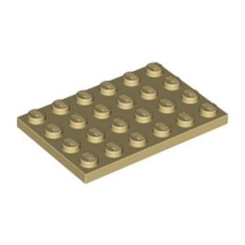 LEGO 4114001 PLATE 4X6 - TAN