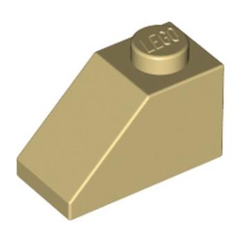 LEGO 304005 TUILE 1X2/45° - BEIGE lego-4121972-tuile-1x245-beige ici :