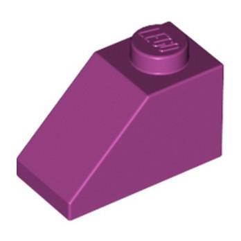 LEGO 4625626  TUILE  1X2/45° - MAGENTA lego-4625626-tuile-1x245-magenta ici :