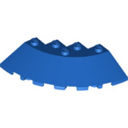 LEGO 6264063 CIRCLE 90G 6X6 ROOF TILE - BLEU