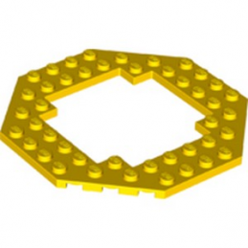 LEGO 6264055 PLATE OCTAGONAL 10X10 - JAUNE