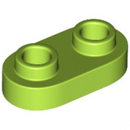 LEGO 6264062 PLATE 1X2, ROND - BRIGHT YELLOWISH GREEN