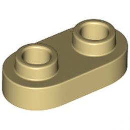 LEGO 6212758 PLATE 1X2, ROND - BEIGE
