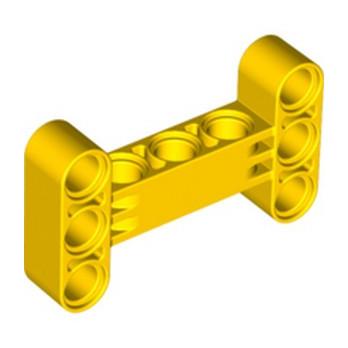 LEGO 6259054 BEAM I FRAME 3 x 5 90 Degr. HOLE Ø4.85 - JAUNE