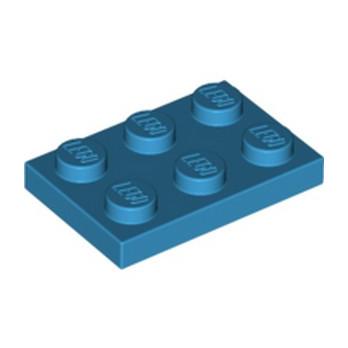 LEGO 6144149 PLATE 2X3 - DARK AZUR lego-6144149-plate-2x3-dark-azur ici :