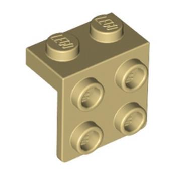 LEGO 4212469 ANGLE PLATE 1X2  2X2 - BEIGE lego-6117975-angle-plate-1x2-2x2-beige ici :