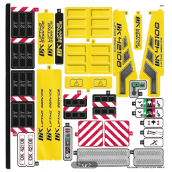 Stickers / Autocollant Lego Technic 42108