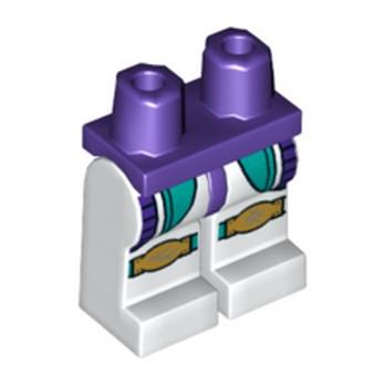 LEGO 6289274 JAMBE IMPRIME - BLANC/MEDIUM LILAC