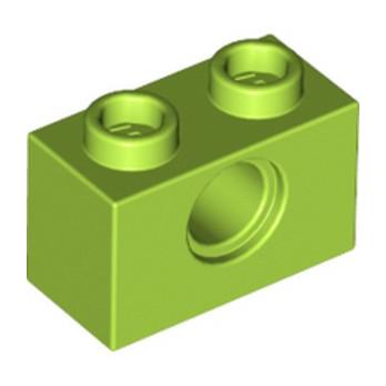 LEGO 6132372 TECHNIC BRIQUE 1X2, Ø4.9 - BRIGHT YELLOWISH GREEN lego-6132372-technic-brique-1x2-o49-bright-yellowish-green ici :