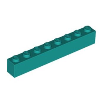 LEGO 6289133 BRIQUE 1X8 - BRIGHT BLUGREEN