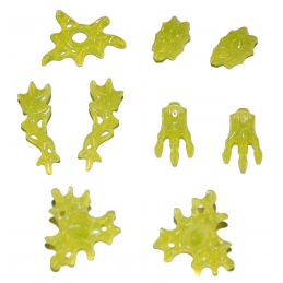 LEGO 6313372 LOT DE 9 ACCESSOIRES HIDDEN SIDE -  JAUNE FLUO TRANSPARENT