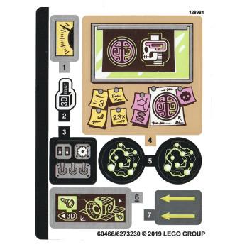 Stickers / Autocollant Lego Hidden Side - 70418