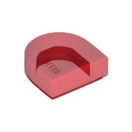 LEGO 6264033 PLATE LISSE 1x1 ½  - ROUGE TRANSPARENT