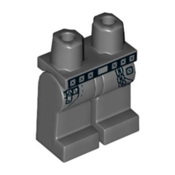 LEGO 6273295 JAMBE IMPRIME - DARK STONE GREY