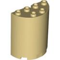 LEGO 6232142 CLOISON ARRONDI 2X4X4 - BEIGE