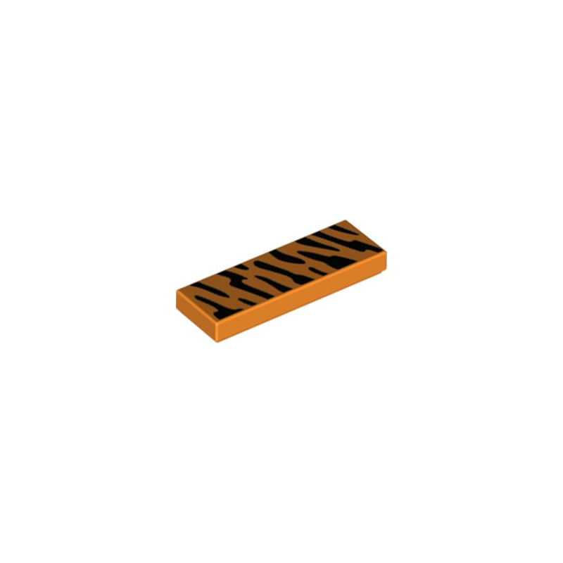 LEGO 6266180 PLAQUE IMPRIME 1X3 - ORANGE