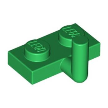LEGO 6073022 PLATE 1X2 W. VERTICAL SCHAFT - DARK GREEN
