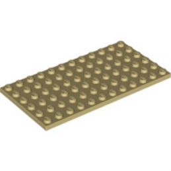 LEGO 6185313 PLATE 6X12 - BEIGE