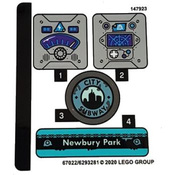 Stickers / Autocollant Lego Hidden Side - 70427