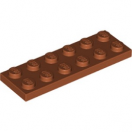 LEGO 6219673 PLATE 2X6 - DARK ORANGE