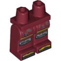 LEGO 6289279 JAMBE IMPRIME - NEW DARK RED